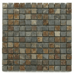Mosaique ardoise 2.3x2.3 cm - unité