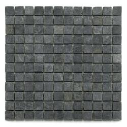Mosaique ardoise noire 2.3x2.3 cm - unité