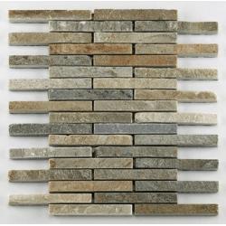 Mosaique quartzite 1.5x12.5 cm - unité Barwolf