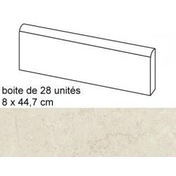 Plinthe intérieur Concrete Bone 8x44.7 cm - 12.52mL