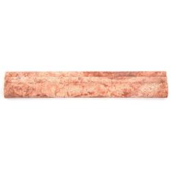 Corniche pierre Travertin Rouge 30.5x5 cm - unité