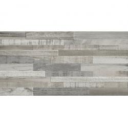Carrelage imitation bois gris rect 30x60 DECK WISCONSIN WINTER MIX - 1.08m²