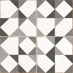 Carrelage triangle vintage gris OLD SCHOOL NIENKE 45x45 cm - 1.42m²