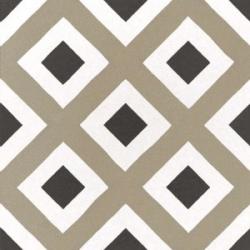 Carrelage imitation ciment géométrique damier 20x20 cm CAPRICE CITY COLOURS 22113 - 1m²