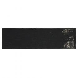 Carrelage uni brillant noir anthracite 6.5x20cm COUNTRY ANTHRACITE 21535 0.5m² Equipe