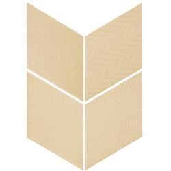 Carrelage losange diamant 14x24cm crème relief ref. 21291 RHOMBUS MAT - 1m²