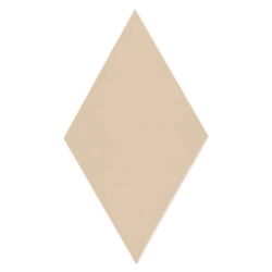 Carrelage losange diamant 14x24cm crème lisse ref. 22689 RHOMBUS MAT - 1m²