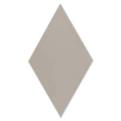 Carrelage losange diamant 14x24cm gris clair lisse ref. 22691 RHOMBUS MAT - 1m²