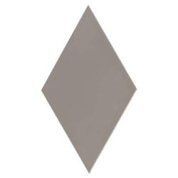 Carrelage losange diamant 14x24cm gris foncé lisse ref. 22692 RHOMBUS MAT - 1m²