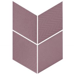 Carrelage losange diamant 14x24cm violet relief ref. 21313 RHOMBUS MAT - 1m²