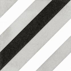 Carrelage géométrique noir et gris 20x20 cm SCANDY ETT R10 - 1m²