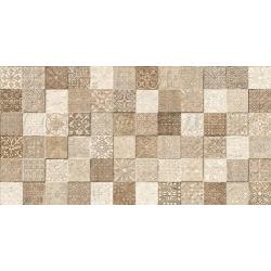 Faience style ciment mosaique beige décoré Deco Lys Arena 32x62.5 cm - 1m²