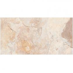 Carrelage effet pierre beige nuancé ARDESIA ALMOND 32x62.5 cm R9 - 1m²