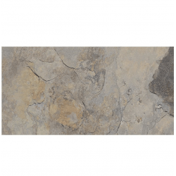 Carrelage effet pierre gris nuancé ARDESIA GRIS 32x62.5 cm R9 - 1m²