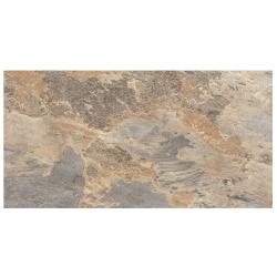 Carrelage effet pierre beige marron nuancé ARDESIA OCRE 32x62.5 cm R9 - 1m²