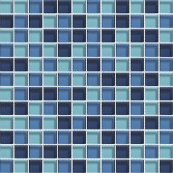 Mosaique bleue Glasmosaik blaumix 2.3x2.3 cm - 30x30 - unité