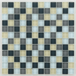Glasmosaik silver grey mix 2.3x2.3 cm - 30x30 - unité