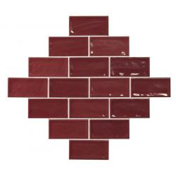 Carrelage effet zellige 7.5x15 GLAMOUR CARMIN - 0.45m² El Barco