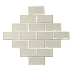 Carrelage effet zellige blanc ivoire 7.5x15 GLAMOUR NEUTRO - 0.45m²