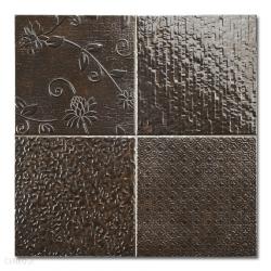 Carrelage style ciment faience précieuse effet metal GLINT ANTRACITA 44x44 cm - 1.37m²