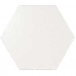 Faience SCALE HEXAGON WHITE MATT 21767 - 12.4x10.7cm - 1 m² Equipe