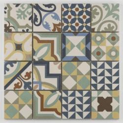 Mosaique grès cérame patchwork coloré mosaïque 31.8x31.8cm KEG-14071 - unité