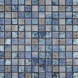 Malla Arte Celeste- Mosaique en verre et grès cérame 30x30cm - unité