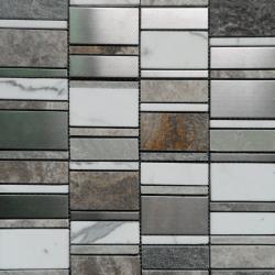 Malla Etrusco Gris - Mosaique en verre