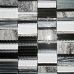 Malla Etrusco Negro - Mosaique en verre