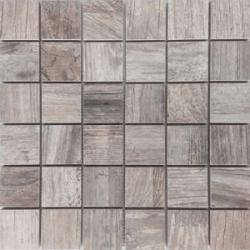 Malla Forest Gris - Mosaique imitation bois - grès cérame 29x29cm - unité