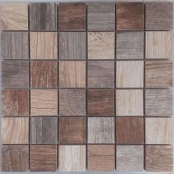 Malla Forest Mix - Mosaique imitation bois - grès cérame 29x29cm - unité