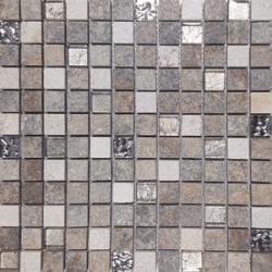 Malla Urales Gris - Mosaique imitation bois - grès cérame 30x30cm - unité