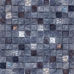 Malla Urales Negro - Mosaique marbre et verre 30x30cm - unité