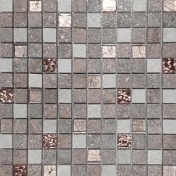 Malla Urales Rosa - Mosaique marbre et verre 30x30cm - unité