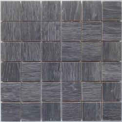 Malla Wood Anthracite - Mosaique imitation bois - grès cérame 29x29cm - unité