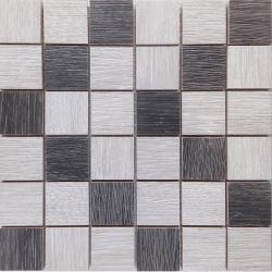 Malla Wood Mix Gris - Mosaique imitation bois - grès cérame 29x29cm - unité