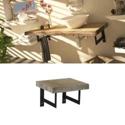 Meuble plateau bois de salle de bain épuré 40 cm MANYARA