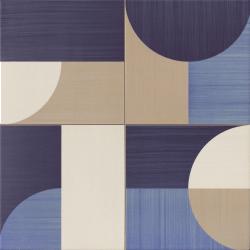 Carrelage pop art deco bleu MOON BLUE 44x44 cm - 1.37m²