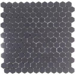 Mosaique Mini tomette hexagonale GRAPHITE23 25x13mm gris anthracite mat - 0.85m²