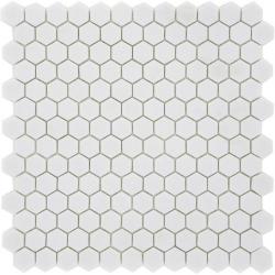 Mosaique Mini tomette hexagonale PURE23 25x13mm blanc mat - 0.85m²