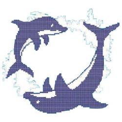 Décor piscine ronde des dauphins 300x300 cm - unité