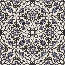 Carrelage azulejos fleurs bleues ORLY DECO 44x44 cm - 1.37m² Realonda
