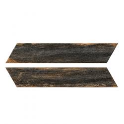 Chevron imitation bois foncé 8x40 cm BORA CHV DARK espiga droite et gauche - 0.96 m²