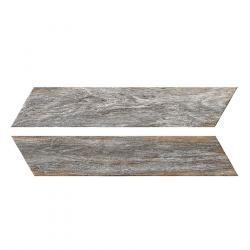 Chevron imitation bois gris 8x40 cm BORA CHV GREY espiga droite et gauche - 0.96 m²