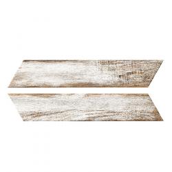 Chevron imitation bois blanc 8x40 cm BORA CHV WHITE espiga droite et gauche - 0.96 m²