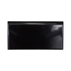 Plinthe intérieur Exacer noir brillant 10x20 cm - unité