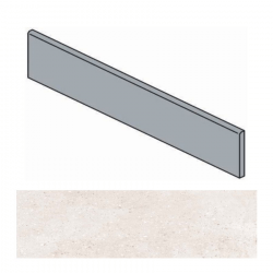 Plinthe ivoire effet ciment 9.4x60 cm TORTONA BONE - 10.20mL Arcana
