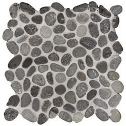 Mosaique galet noir 30x30 cm - unité Barwolf