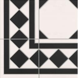 Carrelage à cabochon 33x33 cm OXFORD NEGRO ESQUINA angle - unité Realonda