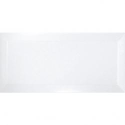Carrelage métro biseauté blanc brillant 10x20 cm - 1m²